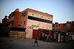 Baghdad, Iraq  : Wed 20th Oct 2010 :..A building pockmarked with bullet holes from 2008 when the US and Iraqi Army took on the fearsome Mahdi army during fierce urban warfare that still scars this sprawling Baghdad slum. ....Ayman Oghanna for The New York Times