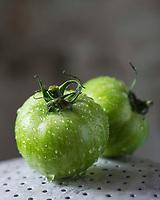Gastronomie, Anciennes variétés de tomates, Tomate Green Zébra  // Gastronomy, Former  varieties of tomatoes, tomato cultivars, Green Zébra  tomato