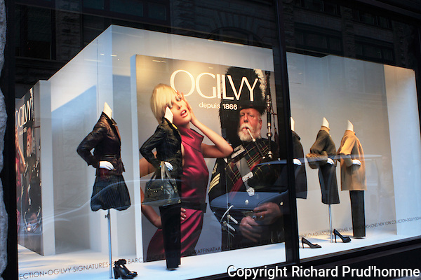 Ogilvy's department store window in downtown Montreal