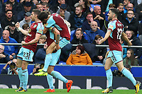 Jeff Hendrick of Burnley celebrates scoring the opening goal during the Premier League match between Everton and Burnley at Goodison Park on October 1st 2017 in Liverpool, England. <br /> Calcio Everton - Burnley Premier League <br /> Foto Phcimages/Panoramic/insidefoto
