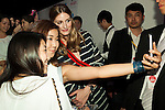 American socialite Olivia Palermo takes a pictures with her fans during the ''ELLE Women in Society'' event on July 13, 2015, Tokyo, Japan. The event promotes the working women's roll in Japanese society with various seminars where top businesswomen, musicians, writers and other international celebrities speak about the working women's roll in the world. By 2020 Prime Minister Shinzo Abe's administration aims to increase the percentage of women in leadership positions to 30% in Japan. (Photo by Rodrigo Reyes Marin/AFLO)