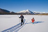 Cross country skiing in the Brooks Range, Arctic Alaska