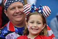 LE HAVRE, FRANCE - JUNE 20: USA fans during a 2019 FIFA Women's World Cup France group F match between the United States and Sweden at Stade Océane on June 20, 2019 in Le Havre, France.