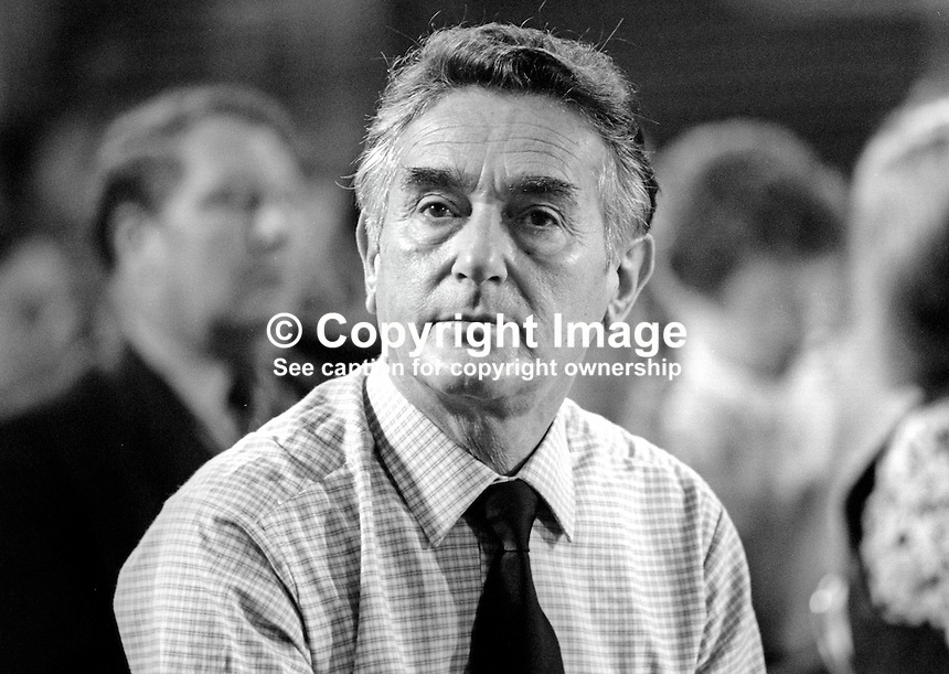 Reg Freeson, MP, Brent East, Labour Party, UK, pictured at annual conference September 1986. 19860937RF<br />