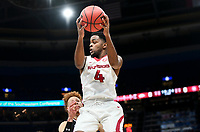 NWA Democrat-Gazette/CHARLIE KAIJO Arkansas Razorbacks guard Daryl Macon (4) rebounds a ball during the Southeastern Conference Men's Basketball Tournament, Thursday, March 8, 2018 at Scottrade Center in St. Louis, Mo.