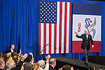 Vice President Joe Biden walks on stage for a campaign rally while on a two-day swing through Iowa on Tuesday, September 18, 2012 in Ottumwa, IA.