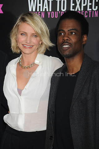 "Cameron Diaz and Chris Rock at the special screening of ""What to expect When You're Expecting"" at AMC Lincoln Square Theater in New York City. May 8, 2012.. Credit: Dennis Van Tine/MediaPunch"
