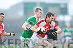 John McCarthy Kilcummin/Rathmore breaks away from Sean McCarthy Legion during the County Champship final in Fitzgerald Stadium last Thursday evening