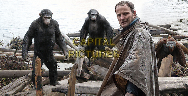 Jason Clarke, Andy Serkis, Toby Kebbell, Karin Konoval<br /> in Dawn of the Planet of the Apes (2014) <br /> *Filmstill - Editorial Use Only*<br /> CAP/FB<br /> Image supplied by Capital Pictures