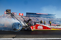 Nov 13, 2016; Pomona, CA, USA; NHRA top fuel driver Doug Kalitta during the Auto Club Finals at Auto Club Raceway at Pomona. Mandatory Credit: Mark J. Rebilas-USA TODAY Sports