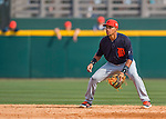5 March 2016: Detroit Tigers infielder Dixon Machado in action during a Spring Training pre-season game against the Washington Nationals at Space Coast Stadium in Viera, Florida. The Tigers fell to the Nationals 8-4 in Grapefruit League play. Mandatory Credit: Ed Wolfstein Photo *** RAW (NEF) Image File Available ***