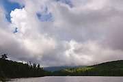 Franconia Notch State Park - Lonesome Lake in the White Mountains, New Hampshire USA. This lake is located long the Appalachian Trail