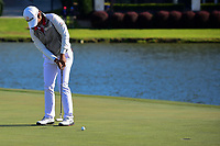 Haru Nomura (JPN) sinks her birdie putt to tie Cristie Kerr (USA) at the end of round 4 of  the Volunteers of America Texas Shootout Presented by JTBC, at the Las Colinas Country Club in Irving, Texas, USA. 4/30/2017.<br /> Picture: Golffile | Ken Murray<br /> <br /> <br /> All photo usage must carry mandatory copyright credit (&copy; Golffile | Ken Murray)
