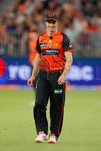 3rd February 2019, Optus Stadium, Perth, Australia; Australian Big Bash Cricket League, Perth Scorchers versus Melbourne Stars; Michael Klinger of the Perth Scorchers