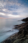 Blurred clouds and waves at sunrise at Ladies Cove Dartmouth