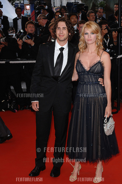 Singer JOSH GROBAN & girlfriend actress JANUARY JONES at the Awards Ceremony & screening of Chromophobia at the 58th Annual Film Festival de Cannes..May 21, 2005 Cannes, France..© 2005 Paul Smith / Featureflash