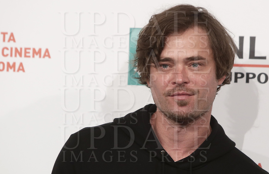 L'attore statunitense Christopher Backus posa durante il photocall per la presentazione del film 'Drowning' alla 14^ Festa del Cinema di Roma all'Aufditorium Parco della Musica di Roma, 20 ottobre 2019.<br /> US actor Christopher Backus poses for the photocall to present the movie 'Drowning' during the 14^ Rome Film Fest at Rome's Auditorium, on 20 October 2019.<br /> UPDATE IMAGES PRESS/Isabella Bonotto