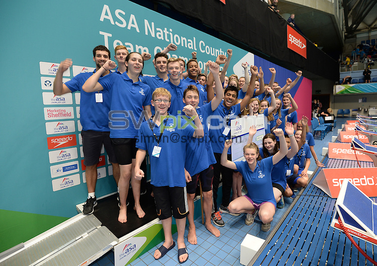 Picture by Anna Gowthorpe/SWpix.com - 23/10/2016 - Swimming - ASA National County Team Championships 2016 - Ponds Forge, Sheffield, England - Division One winners Yorkshire.