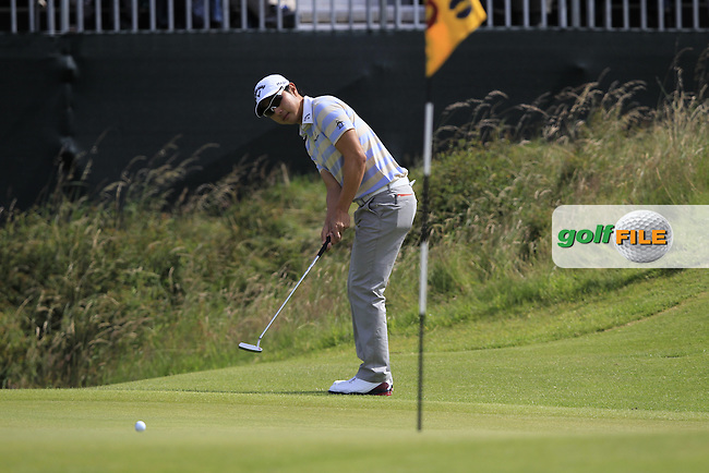 Sang-Moon Bae (KOR) takes his putt on the 10th green during Saturday's Round 3 of the 141st Open Championship at Royal Lytham & St.Annes, England 21st July 2012 (Photo Eoin Clarke/www.golffile.ie)
