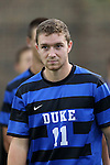 20 September 2013: Duke's Nick Palodichuk. The Duke University Blue Devils hosted the Syracuse University Orangemen at Koskinen Stadium in Durham, NC in a 2013 NCAA Division I Men's Soccer match. Syracuse won the game 2-1.