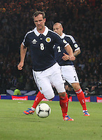Andy Webster in the Scotland v Macedonia FIFA World Cup Qualifying match at Hampden Park, Glasgow on 11.9.12.