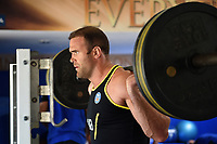 Jamie Roberts of Bath Rugby in the gym. Bath Rugby pre-season training on July 2, 2018 at Farleigh House in Bath, England. Photo by: Patrick Khachfe / Onside Images