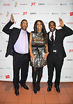Color of Beauty Awards honoring supermodel Beverly Johnson poses with her brother (L) and nephew John on February 4, 2014 at Holy Apostles, New York City, New York. (Photo by Sue Coflin/Max Photos)
