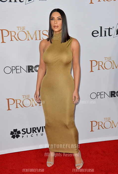 Kim Kardashian at the premiere for &quot;The Promise&quot; at the TCL Chinese Theatre, Hollywood. Los Angeles, USA 12 April  2017<br /> Picture: Paul Smith/Featureflash/SilverHub 0208 004 5359 sales@silverhubmedia.com