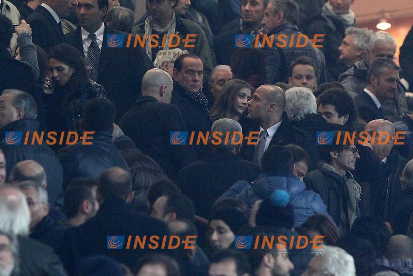"""Silvio Berlusconi in tribuna con Daniela Santanche'.Milano 25/11/2012 Stadio """"San Siro"""".Football Calcio Serie A 2012/13.Milan v Juventus.Foto Insidefoto Paolo Nucci."""