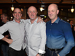 Benner Maguire celebrating his 50th birthday in The Thatch with friends Kevin Connor and Niall Reynolds. Photo:Colin Bell/pressphotos.ie