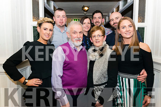 Stephen and Bridie Murphy Carrickerry celebrated their 40th Wedding Anniversary with front Linda Clifford and Michelle Murphy, back l-r Philip Clifford, Edel, Kevin and Stephen Murphy in the Porterhouse, Killarney last Friday night.