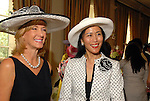 Sheridan Williams and Y. Ping Sun at the Hats Off to Mothers luncheon at River Oaks Country Club Tuesday  April 01,2008.(Dave Rossman/For the Chronicle)