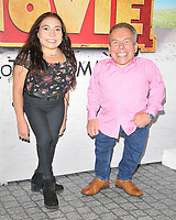 "Annabelle Davis and Warwick Davis at the ""Horrible Histories: The Movie - Rotten Romans"" world film premiere, Odeon Luxe Leicester Square, Leicester Square, London, England, UK, on Sunday 07th July 2019.<br /> CAP/CAN<br /> ©CAN/Capital Pictures"