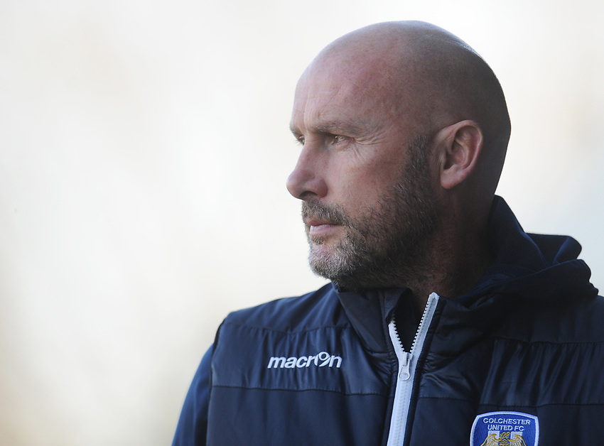 Colchester United manager John McGreal <br /> <br /> Photographer Kevin Barnes/CameraSport<br /> <br /> The EFL Sky Bet League Two - Newport County v Colchester United - Saturday 17th November 2018 - Rodney Parade - Newport<br /> <br /> World Copyright © 2018 CameraSport. All rights reserved. 43 Linden Ave. Countesthorpe. Leicester. England. LE8 5PG - Tel: +44 (0) 116 277 4147 - admin@camerasport.com - www.camerasport.com