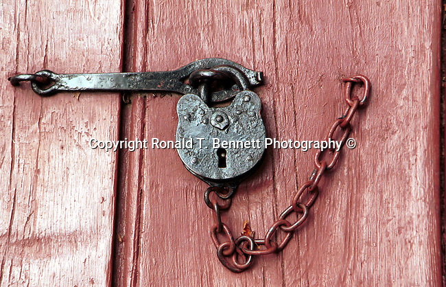 Old pad lock Colonial Williamsburg, Virginia, Fine Art Photography by Ron Bennett, Fine Art, Fine Art photography, Art Photography, Copyright RonBennettPhotography.com ©