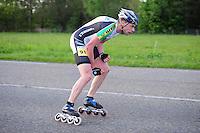 INLINE-SKATEN: STEENWIJK: Gagelsweg (start/finish), Schansweg, Meppelerweg, KPN Inline Cup, Klim van Steenwijk, 02-05-2012, Bart de Vries (#91), ©foto Martin de Jong