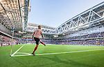 Stockholm 2014-08-31 Fotboll Allsvenskan Djurg&aring;rdens IF - Malm&ouml; FF :  <br /> Malm&ouml;s Magnus Eriksson sl&aring;r en h&ouml;rna i Tele2 Arena under matchen mellan Djurg&aring;rden och Malm&ouml;<br /> (Foto: Kenta J&ouml;nsson) Nyckelord:  Djurg&aring;rden DIF Tele2 Arena Malm&ouml; MFF inomhus interi&ouml;r interior