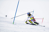 17th March 2018, Àvet Slope, Soldeu, Andorra; FIS Alpine Ski European Cup, Slalom Ladies Finals; #30 ZELGER Lorina from SUI  during the Slalom Final