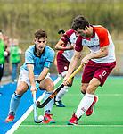 ALMERE - Hockey - Hoofdklasse competitie heren. ALMERE-HGC (0-1) . Tristan Algera (HGC) met rechts Stijn Jolie (Almere) .    COPYRIGHT KOEN SUYK