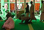 People assembling for Friday prayers at Jamia Mosque in Nairobi, Kenya.