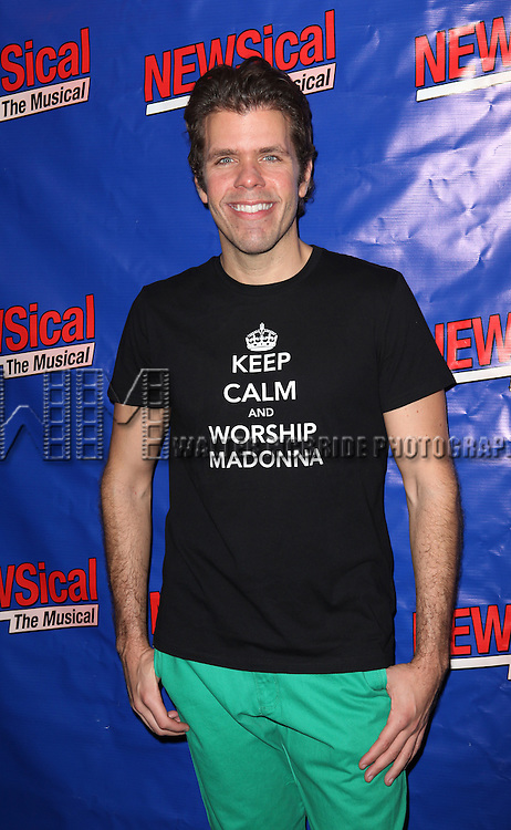 Perez Hilton attending the Opening Night Performance of Perez Hilton in 'NEWSical The Musical' at the Kirk Theatre  in New York City on September 17, 2012.