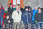 VICTOROUS: The winning St Brendan's Minor Football team get a warm welcome to Ardfert on a cold Friday night as Capt Daniel Collin from Ardfert raise the late Frank King Memorial Minor Cup: