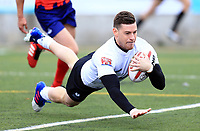 TORONTO, ON - MAY 06:  Blake Wallace #6 of Toronto Wolfpack scores the first ever  home try in the history of the Toronto Wolfpack during the first half of a Kingstone Press League 1 match against Oxford RLFC at Lamport Stadium on May 6, 2017 in Toronto, Canada.  (Photo by Vaughn Ridley/SWpix.com)