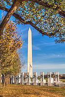 WWII Memorial Washington Monument Washington DC