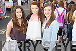 Pictured queuing for the Union J concert at Denny Street on Friday were, from left: Aoife McDonagh, Corinne Gibbons and Megan Ahern (all from Athy).