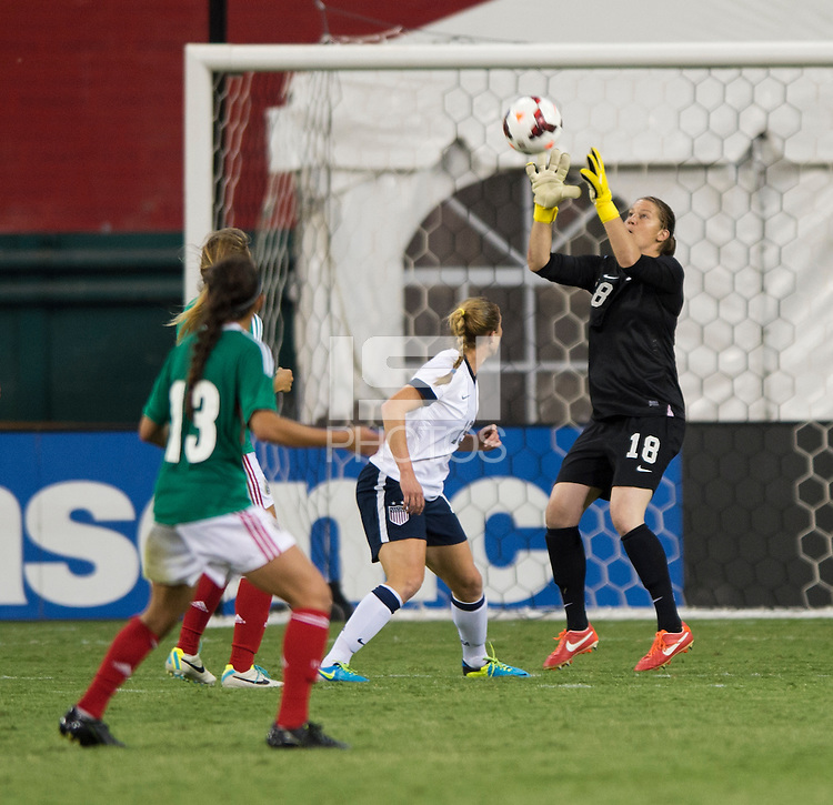 Nicole Barnhart. The USWNT defeated Mexico, 7-0, during an international friendly at RFK Stadium in Washington, DC.  The USWNT defeated Mexico, 7-0.