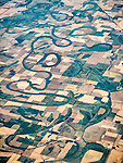 Meanders of the Red River in Arkansas, east of Texarkana, TX