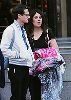 NEW YORK, NY - October 05:  Monica Lewinsky seen with an unidentified person hailing a cab after an appearance on at Good Morning America  in New York October 05, 2018. <br /> CAP/MPI/RW<br /> &copy;RW/MPI/Capital Pictures