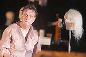 "10 July 2014, Muelheim an der Ruhr, Germany. Rupert J Seidl as Franz Woyzeck. Roberto Ciulli's Theater an der Ruhr perform ""Woyzeck - ein musikalischer Fall"" as part of their open-air season ""Weisse Naechte"" (White Nights) in Raffelbergpark in Muelheim an der Ruhr, Germany. With Rupert J Seidl as Franz Woyzeck, Dagmar Geppert as Marie and Maria Neumann as Christian, Marie's child."