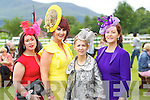 Pictured at Ladies Day at Killarney Races on Thursday, from left: Marilyn Duffy (Tralee), Ann Kahraman (Ballyheigue), Sandra Kearney (Tralee) and Eileen Kennedy (Caragh Lake).